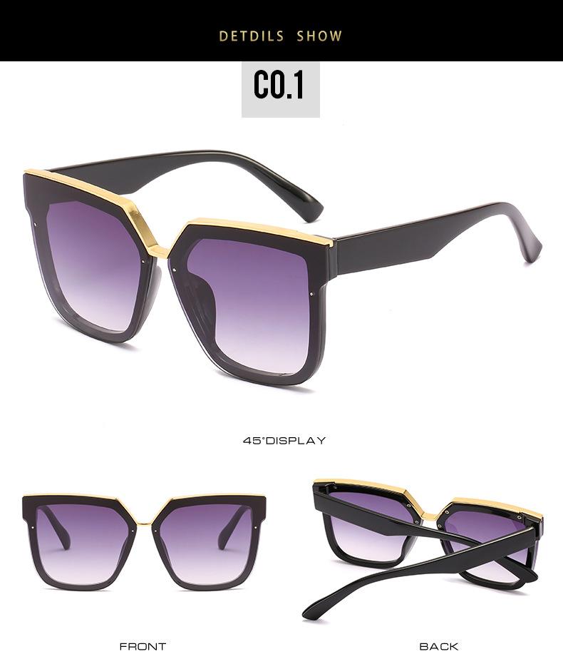 2020 New Box Sunglasses European And American Fashion Metal Accessories Sunglasses All-match Glasses 7