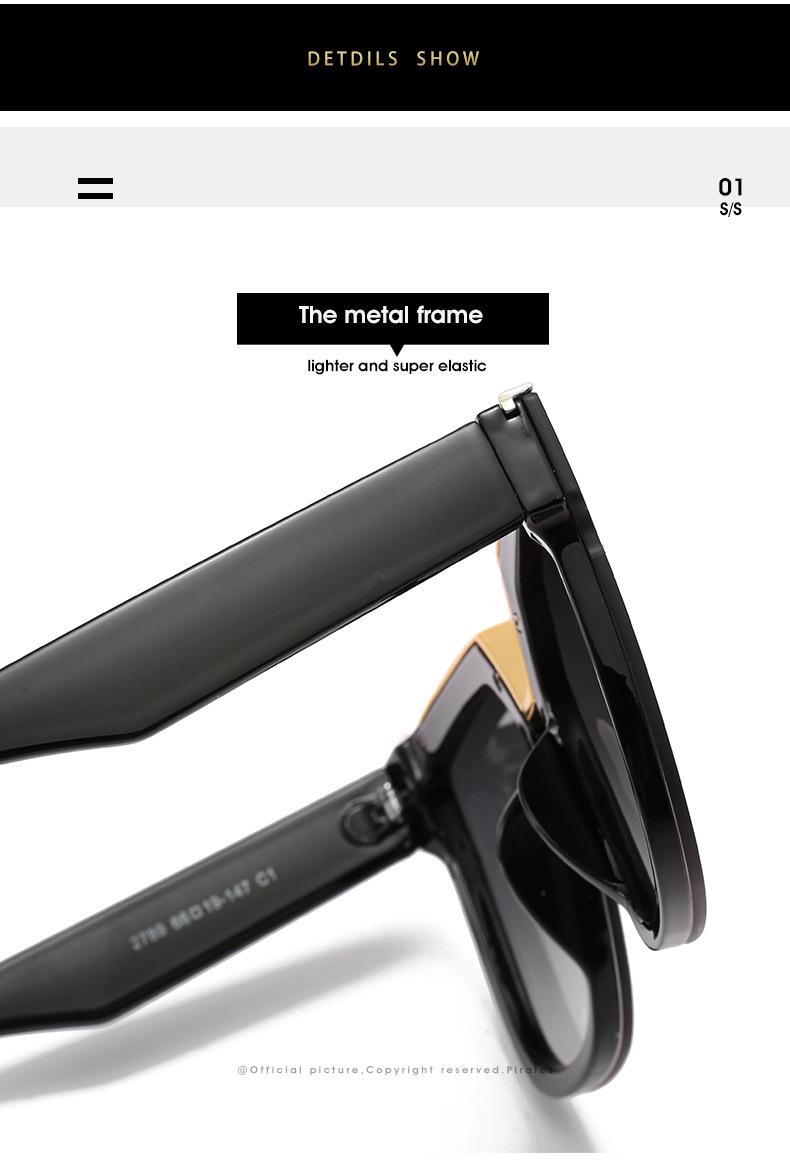 2020 New Box Sunglasses European And American Fashion Metal Accessories Sunglasses All-match Glasses 4