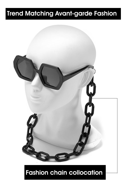 2020 Personalized Chain Sunglasses European And American Exaggerated Octagonal Sunglasses Women Fashion Glasses Sunglass 3