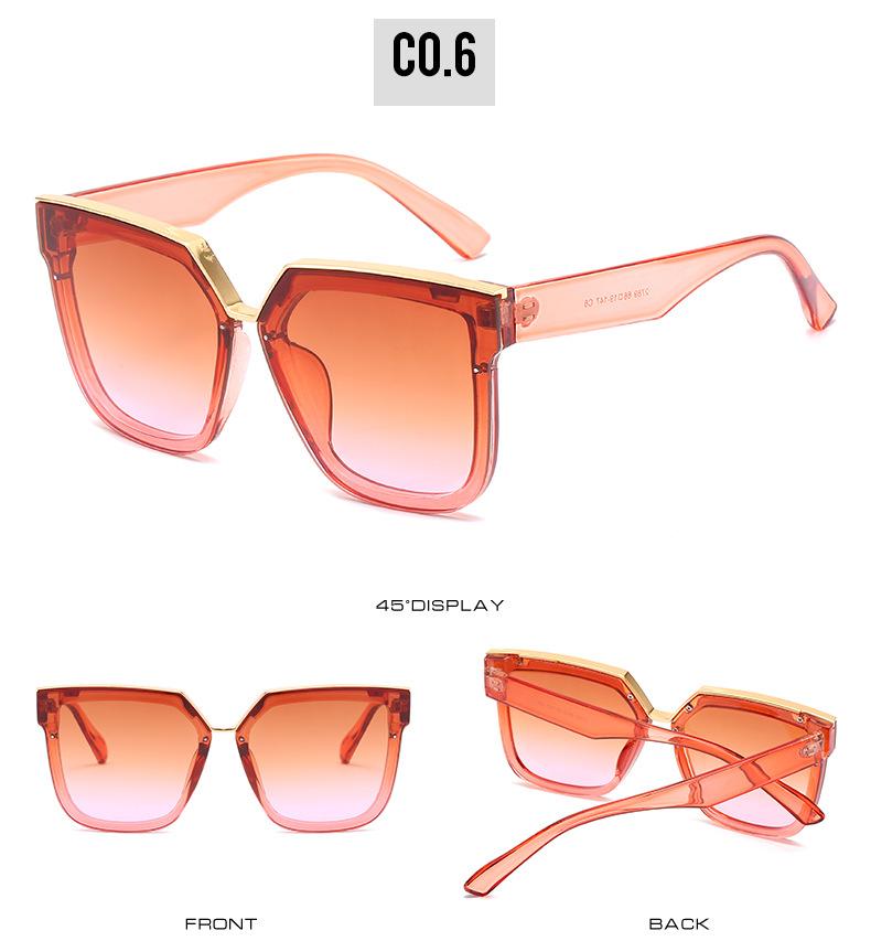 2020 New Box Sunglasses European And American Fashion Metal Accessories Sunglasses All-match Glasses 12