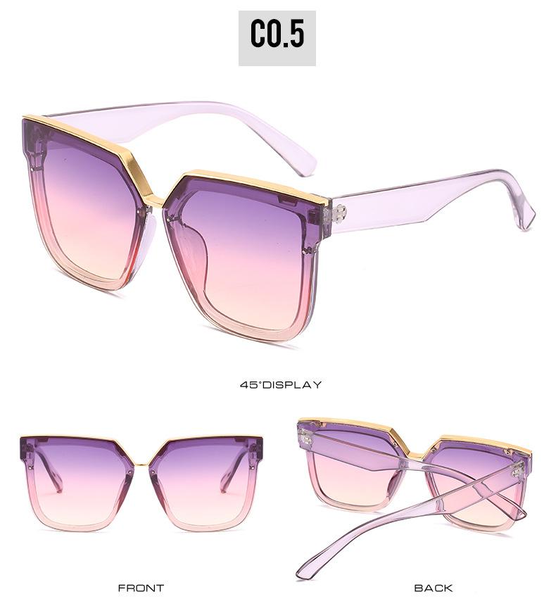 2020 New Box Sunglasses European And American Fashion Metal Accessories Sunglasses All-match Glasses 11