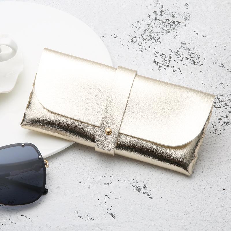 Portable Leather Glasses Case Soft Bag Handmade Sunglasses PVC Leather Handmade Sunglasses Case 16.8*7.6*2.8 cm 5