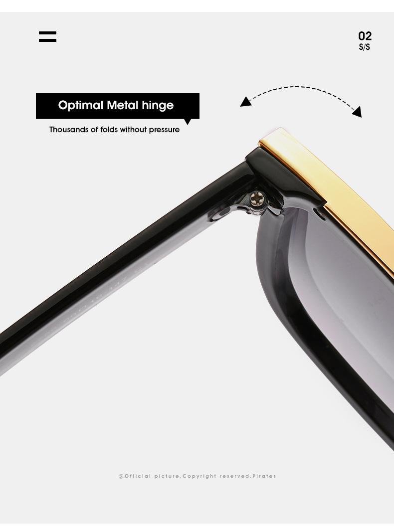 2020 New Box Sunglasses European And American Fashion Metal Accessories Sunglasses All-match Glasses 5