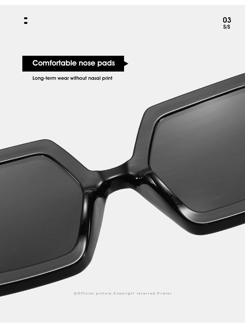 2020 Personalized Chain Sunglasses European And American Exaggerated Octagonal Sunglasses Women Fashion Glasses Sunglass 13