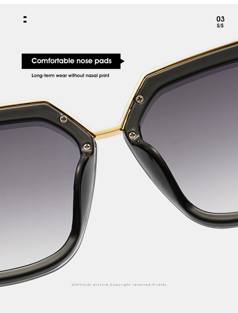 2020 New Box Sunglasses European And American Fashion Metal Accessories Sunglasses All-match Glasses 6