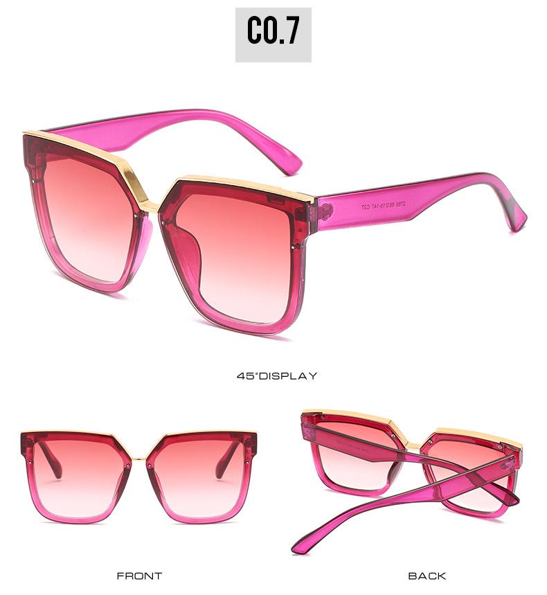 2020 New Box Sunglasses European And American Fashion Metal Accessories Sunglasses All-match Glasses 13