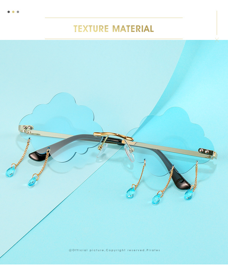 2020 New Personalized Rain Sunglasses Hot Cloud Glasses Fashion Exaggerated Milan Style Sunglasses 1