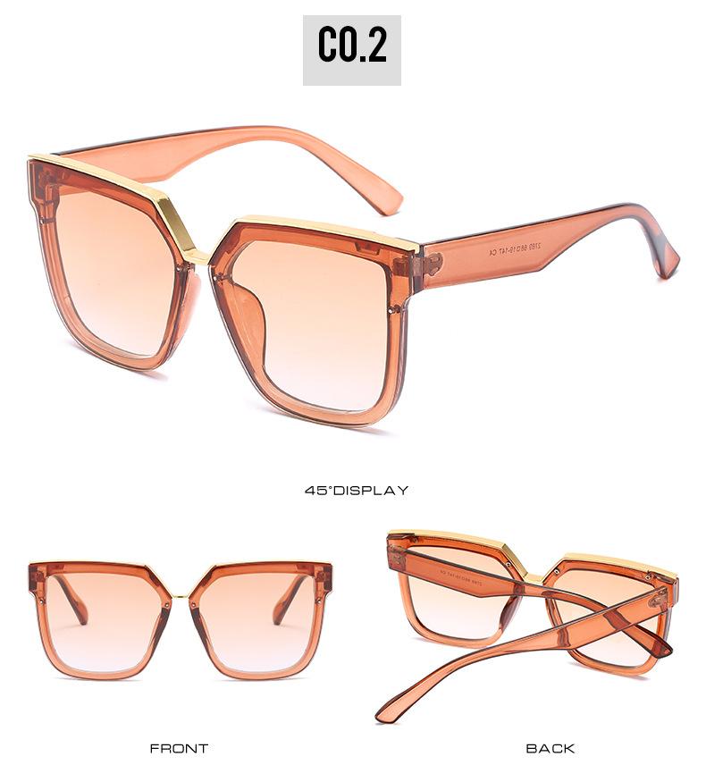 2020 New Box Sunglasses European And American Fashion Metal Accessories Sunglasses All-match Glasses 8
