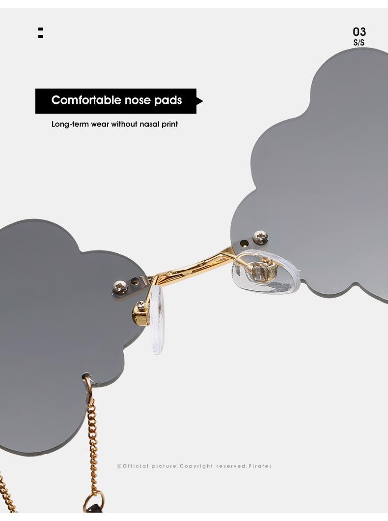 2020 New Personalized Rain Sunglasses Hot Cloud Glasses Fashion Exaggerated Milan Style Sunglasses 11