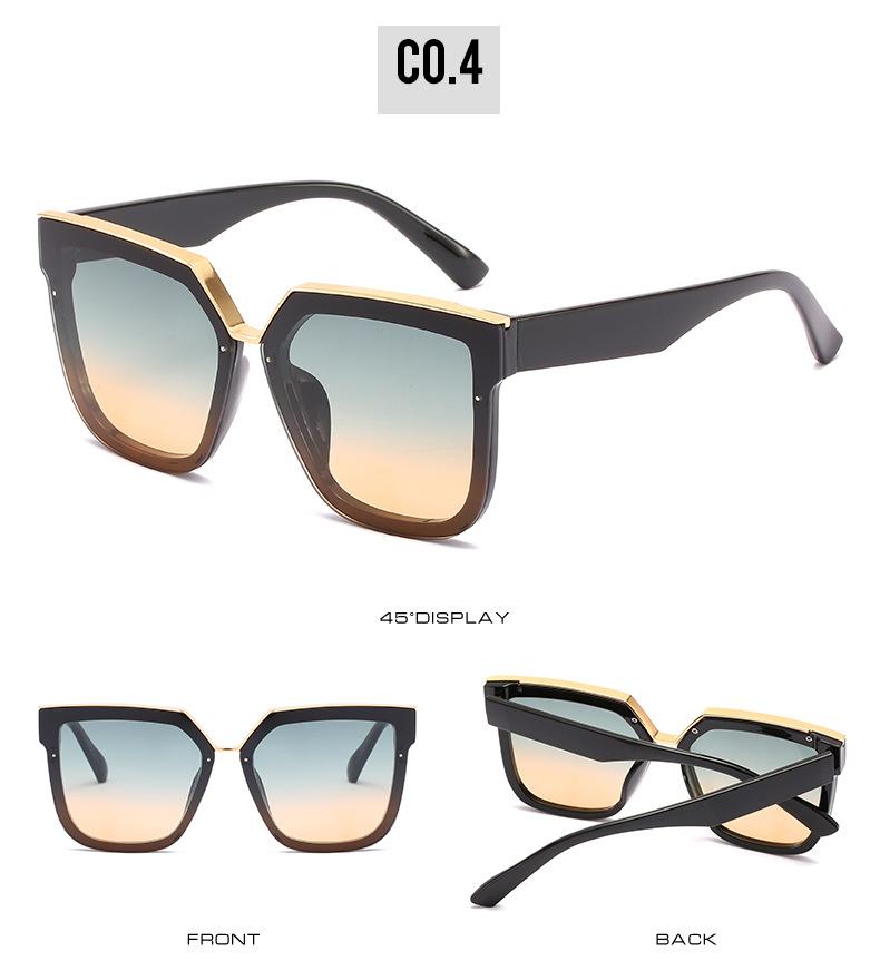 2020 New Box Sunglasses European And American Fashion Metal Accessories Sunglasses All-match Glasses 10