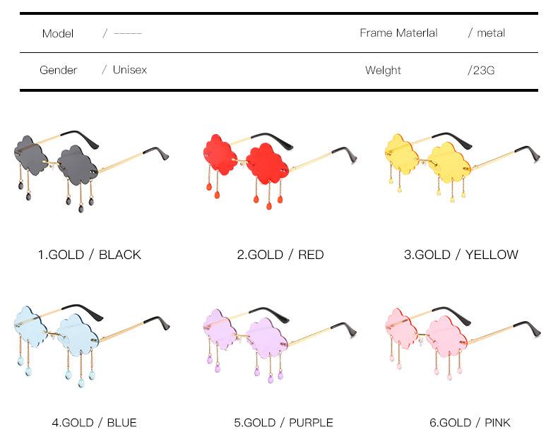 2020 New Personalized Rain Sunglasses Hot Cloud Glasses Fashion Exaggerated Milan Style Sunglasses 4