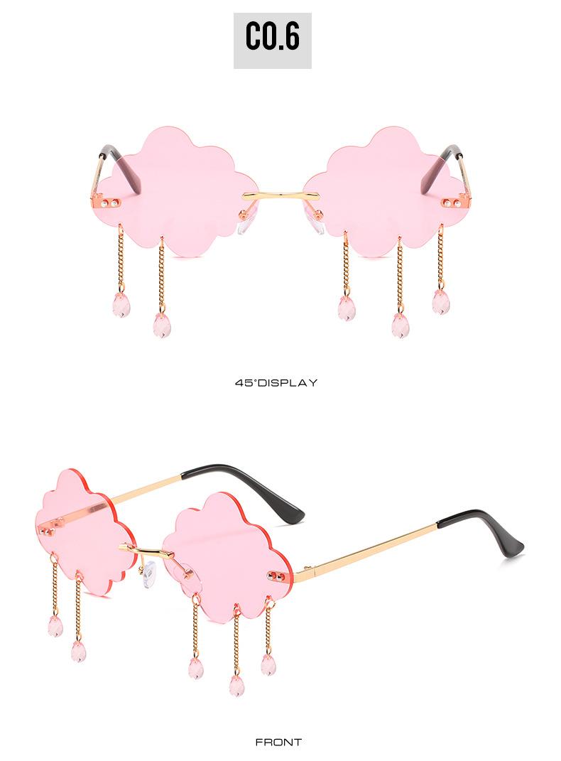 2020 New Personalized Rain Sunglasses Hot Cloud Glasses Fashion Exaggerated Milan Style Sunglasses 8