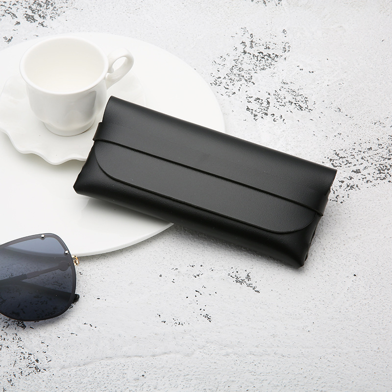 Leather Handmade Glasses Case Durable Portable Cassette Sunglasses Case PVC Leather Glasses Soft Case 2