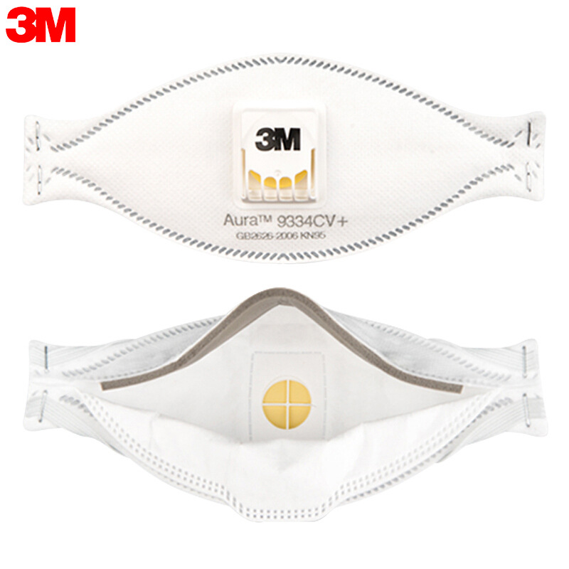 3M Aura 9334CV+ KN95 Disposable Respirators Anti-fog Dust-proof Face Mask with Value 1