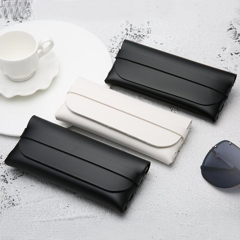 Leather Handmade Glasses Case Durable Portable Cassette Sunglasses Case PVC Leather Glasses Soft Case 0