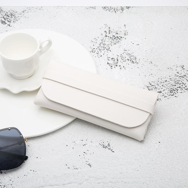 Leather Handmade Glasses Case Durable Portable Cassette Sunglasses Case PVC Leather Glasses Soft Case 3