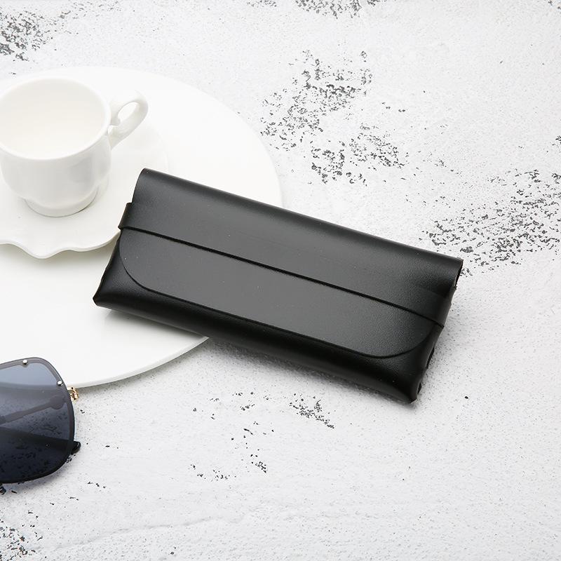 Leather Handmade Glasses Case Durable Portable Cassette Sunglasses Case PVC Leather Glasses Soft Case 4