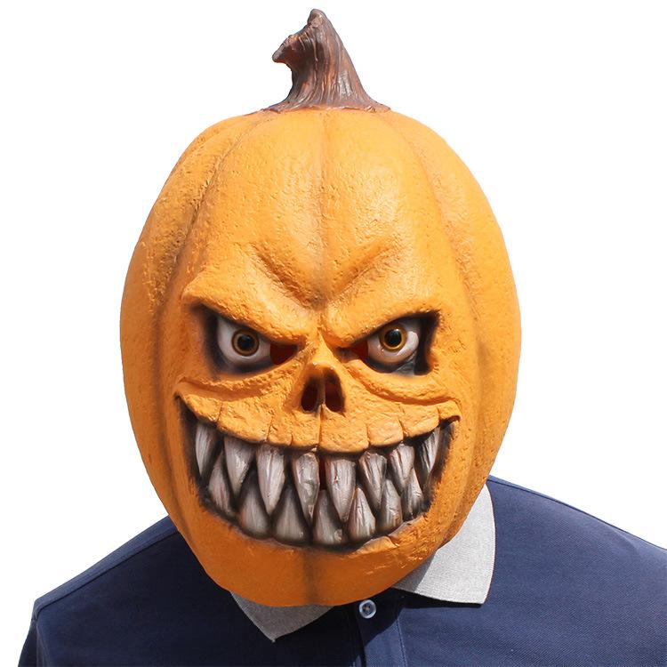 Halloween Clown Pumpkin Mask Horror Funny Dance Party Mask Costume Play Cos Props Pumpkin Mask 38*29*33 CM 3