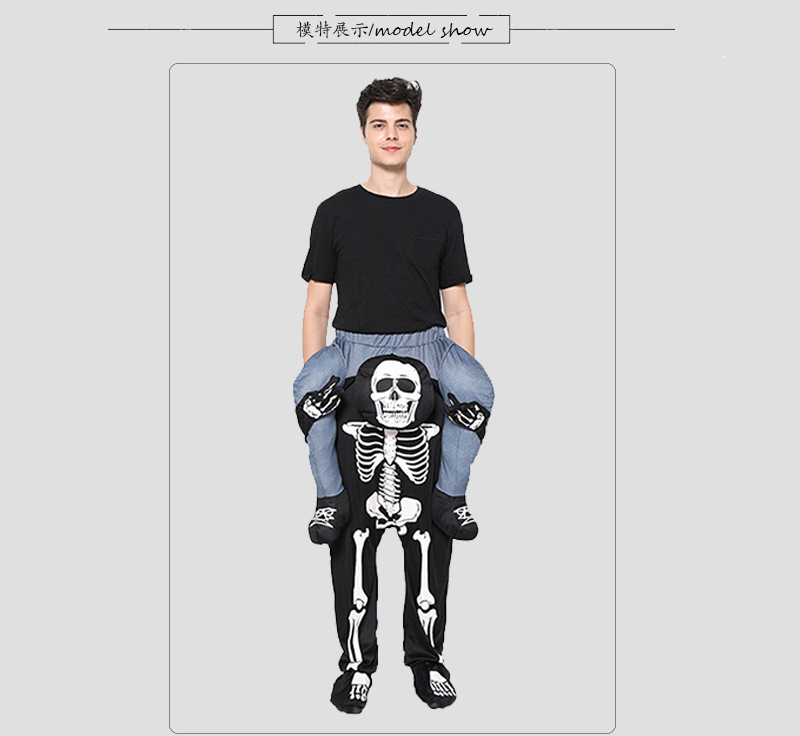 Halloween Christmas Skull Back Pants Magic Pants COS Party Stage Performance Costume 0