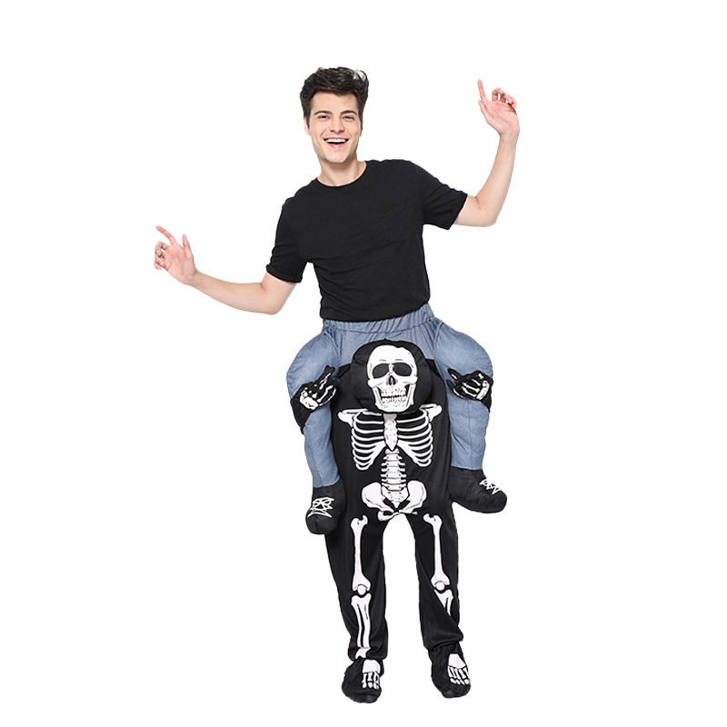 Halloween Christmas Skull Back Pants Magic Pants COS Party Stage Performance Costume 4