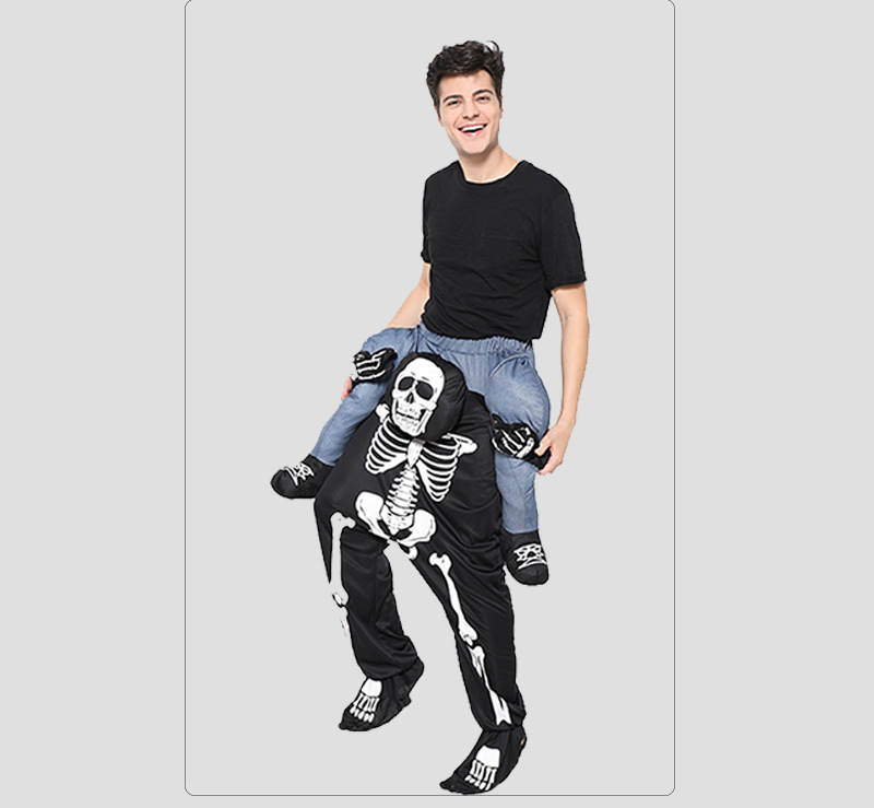 Halloween Christmas Skull Back Pants Magic Pants COS Party Stage Performance Costume 1