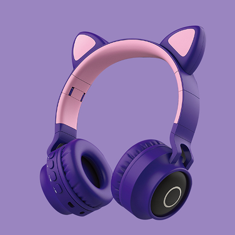 New Student Cute Cat Ear Headset Wireless Cartoon Bluetooth Gaming Headset Mobile Phone Explosion Headset 6