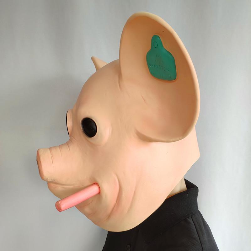2020 Game Watchdogs Army Mask Watch Dogs Smoking Pig Head Animal Mask Vibrato Headgear Mas 3