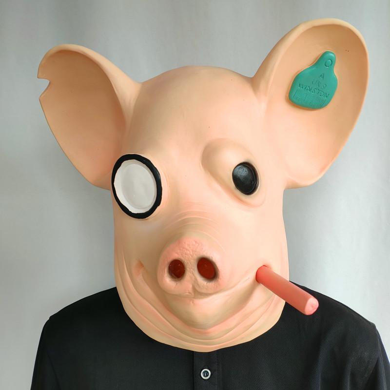 2020 Game Watchdogs Army Mask Watch Dogs Smoking Pig Head Animal Mask Vibrato Headgear Mas 4