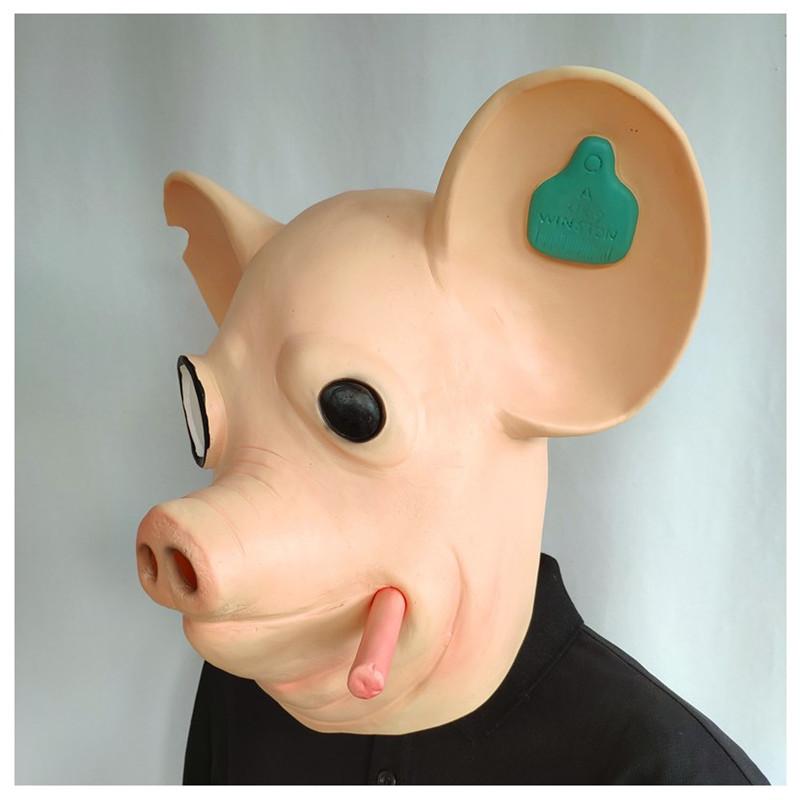 2020 Game Watchdogs Army Mask Watch Dogs Smoking Pig Head Animal Mask Vibrato Headgear Mas 0