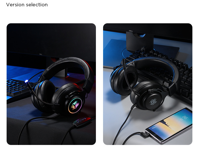 RGB Headset Gaming Wired Ps4 Computer Xbox Universal Headset USB Microphone 7.1 Internet Cafe Game Headset 5
