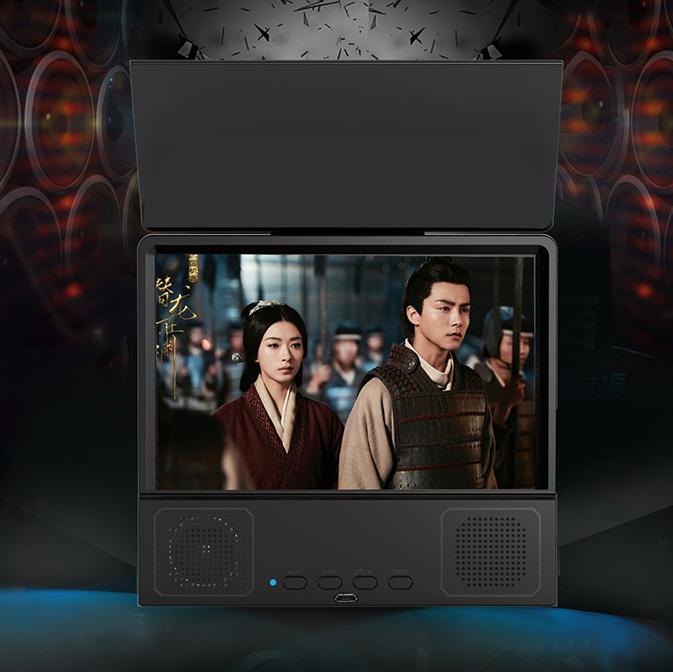 8.5 Inch Bluetooth Speaker Phone TV Stand Amplifier 3d HD Video Phone Screen Amplifier 1