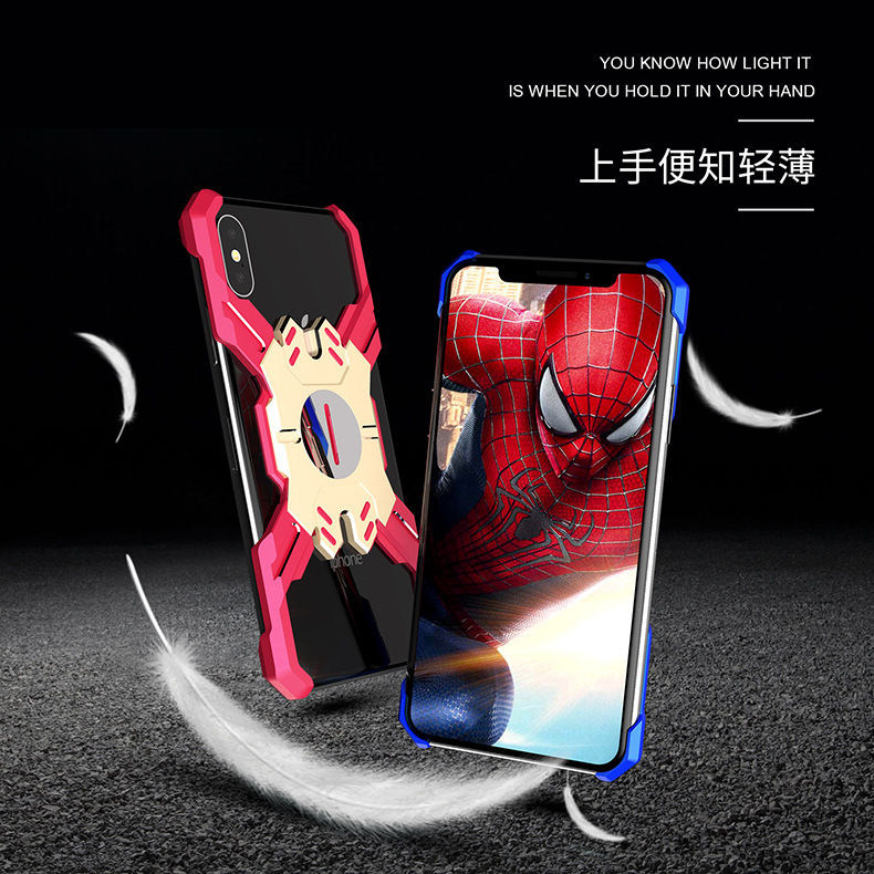 Heroes Avengers Iron Man Apple X XS Huawei Applicable Metal Phone Case P20pro Cover 2