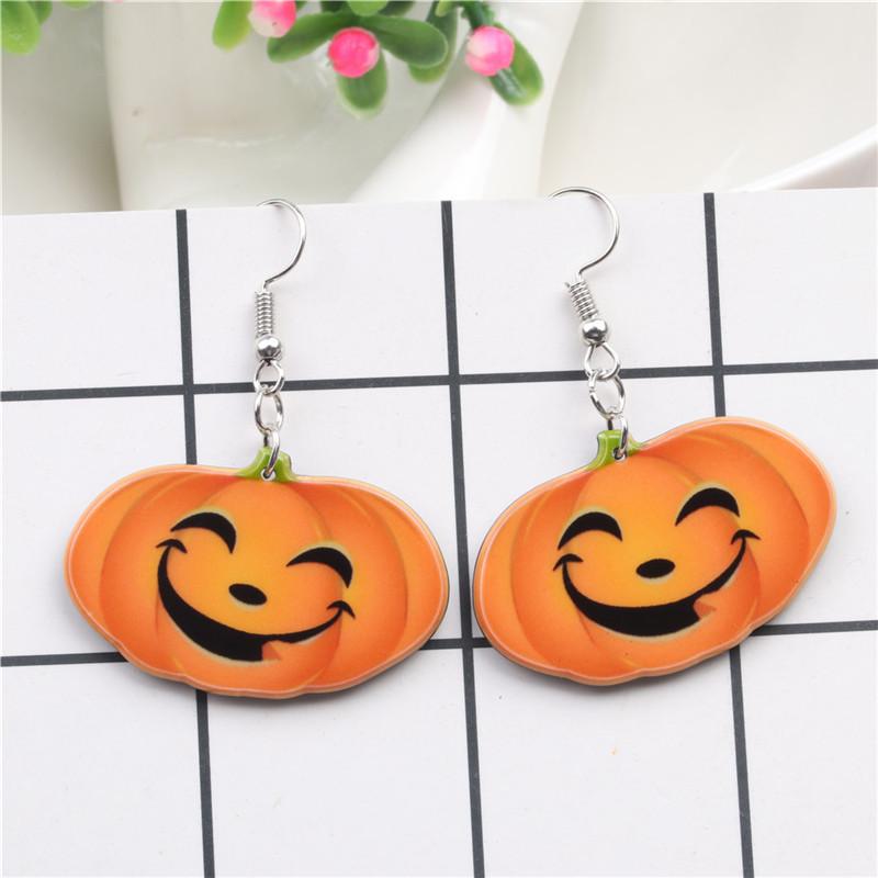 Halloween Pumpkin Earrings Ghost Festival Owl Earrings with Propitious implied Meaning Earrings Studs 7