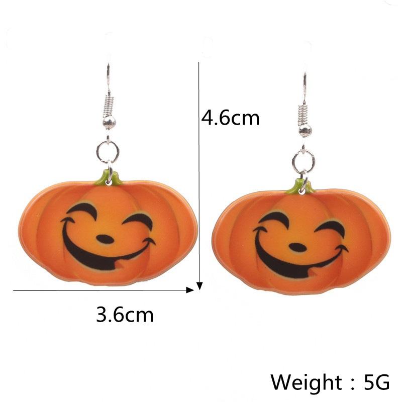 Halloween Pumpkin Earrings Ghost Festival Owl Earrings with Propitious implied Meaning Earrings Studs 1