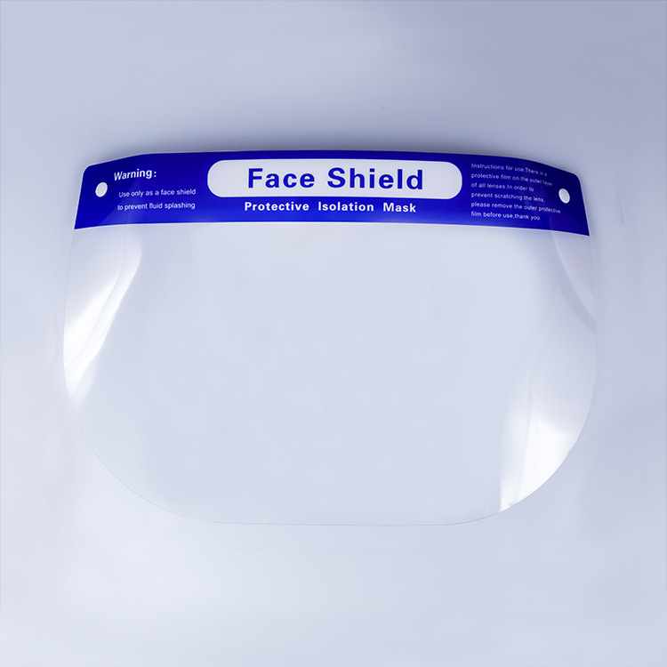 Anti-dropping Anti-fog Isolation Face Screen Splash-proof Disposable Transparent PET Protective Mask 2