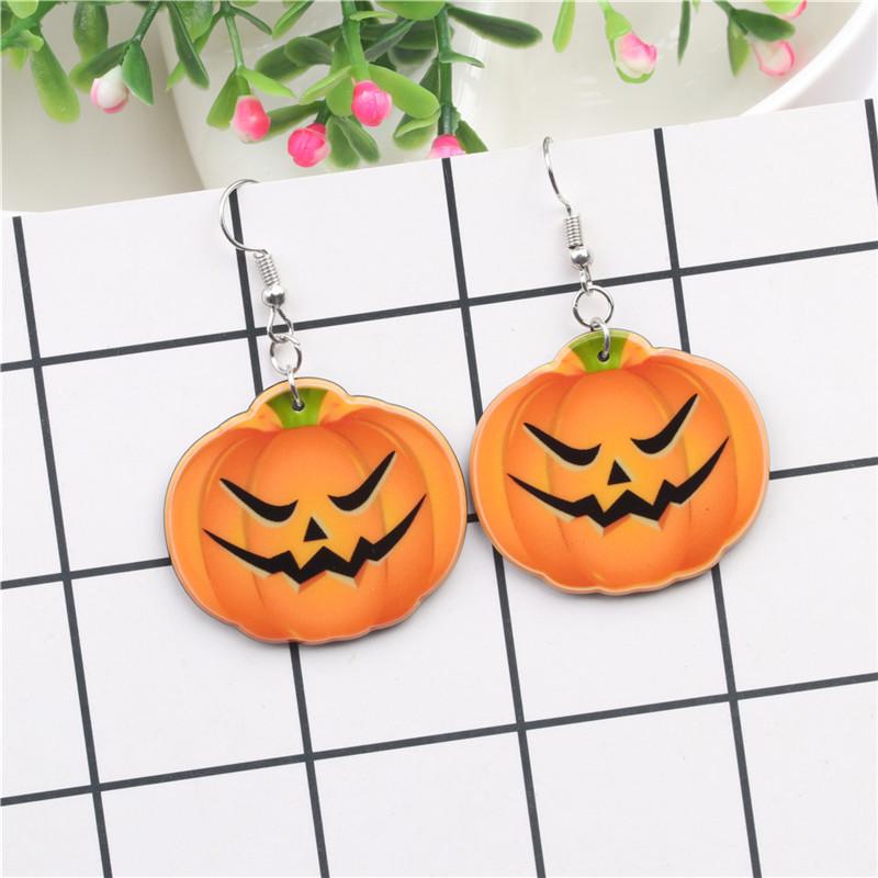 Halloween Pumpkin Earrings Ghost Festival Owl Earrings with Propitious implied Meaning Earrings Studs 4
