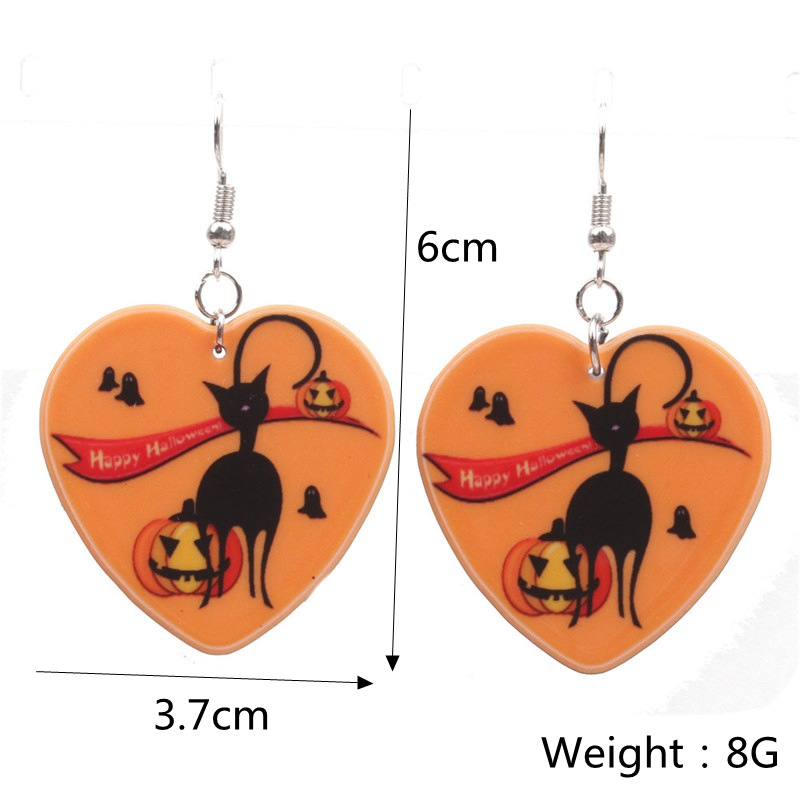 Halloween Pumpkin Earrings Ghost Festival Owl Earrings with Propitious implied Meaning Earrings Studs 2