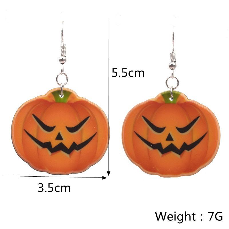 Halloween Pumpkin Earrings Ghost Festival Owl Earrings with Propitious implied Meaning Earrings Studs 2