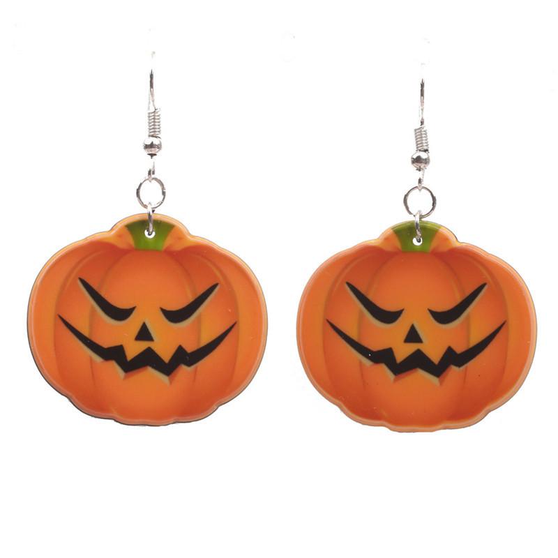Halloween Pumpkin Earrings Ghost Festival Owl Earrings with Propitious implied Meaning Earrings Studs 3