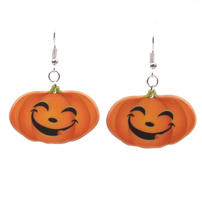 Halloween Pumpkin Earrings Ghost Festival Owl Earrings with Propitious implied Meaning Earrings Studs 6