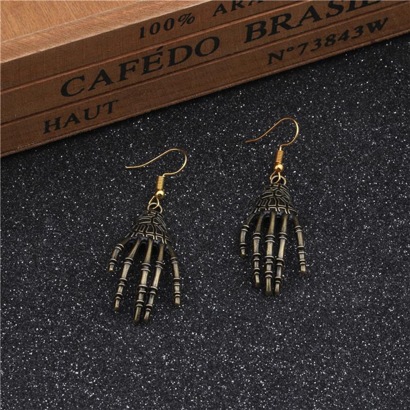 New European and American Halloween Earrings Holiday Skull Joint Palm Eyes Earrings Spider Earrings 6