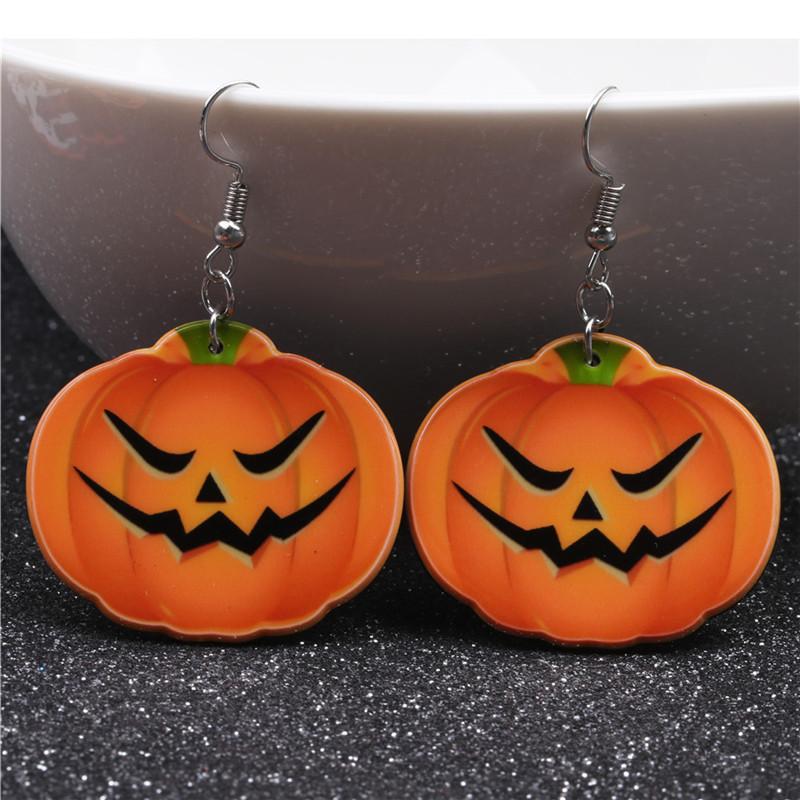 Halloween Pumpkin Earrings Ghost Festival Owl Earrings with Propitious implied Meaning Earrings Studs 5