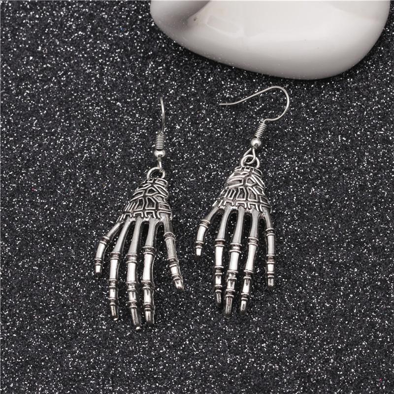 New European and American Halloween Earrings Holiday Skull Joint Palm Eyes Earrings Spider Earrings 2