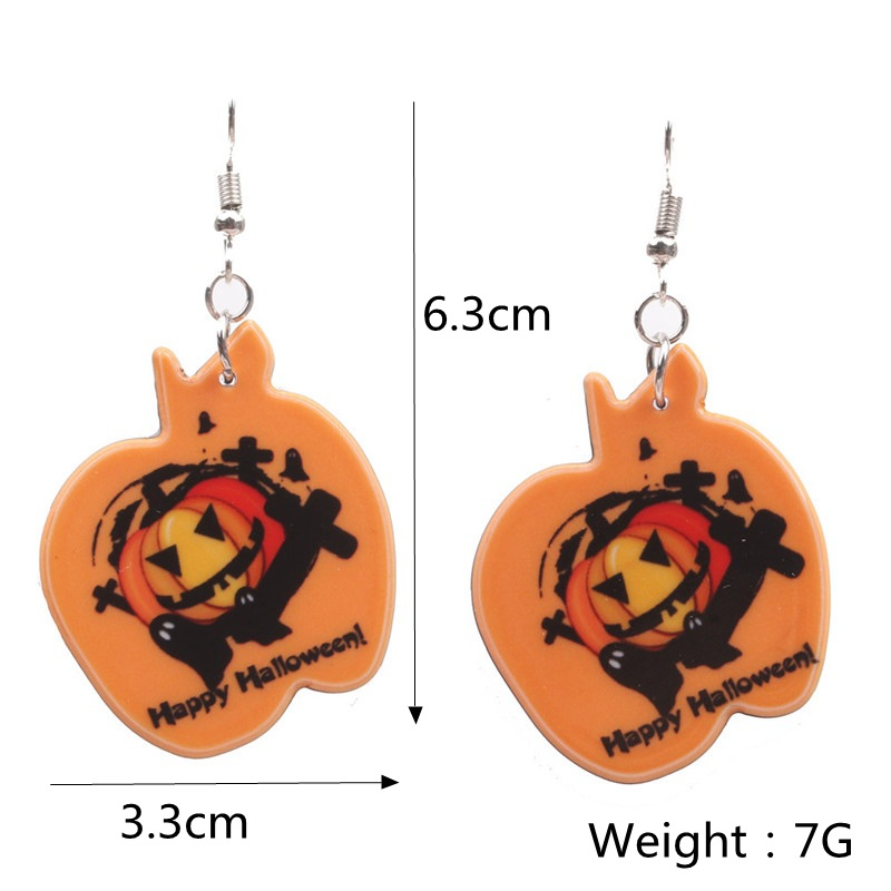 Halloween Pumpkin Earrings Ghost Festival Owl Earrings with Propitious implied Meaning Earrings Studs 1