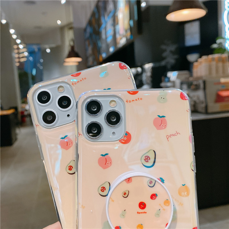 Blu-ray IMD Cartoon iPhone 11 Mobile Phone Case For iPhoneXR Bracket Soft Silicone XSmax Cover 3