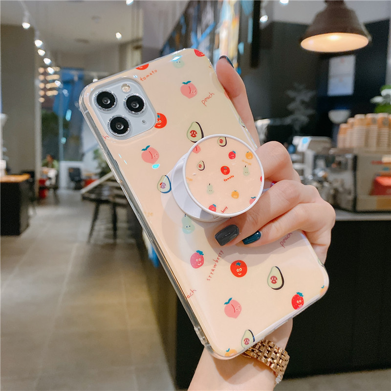 Blu-ray IMD Cartoon iPhone 11 Mobile Phone Case For iPhoneXR Bracket Soft Silicone XSmax Cover 1