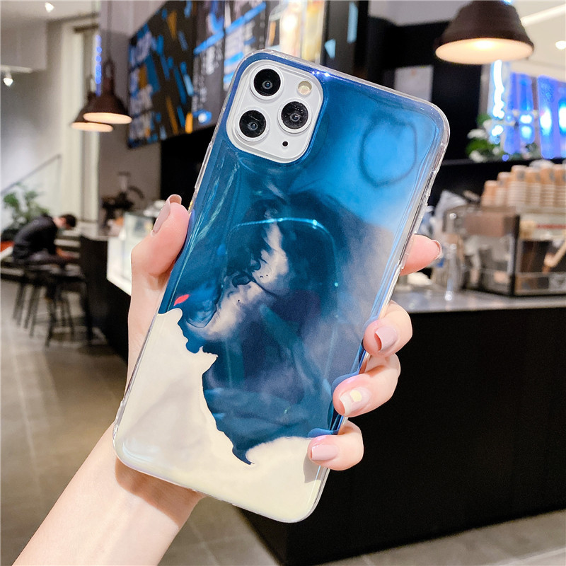 Blu-ray IMD Cartoon iPhone 11 Mobile Phone Case For iPhoneXR Anti-drop Soft Silicone XSmax Cover 2