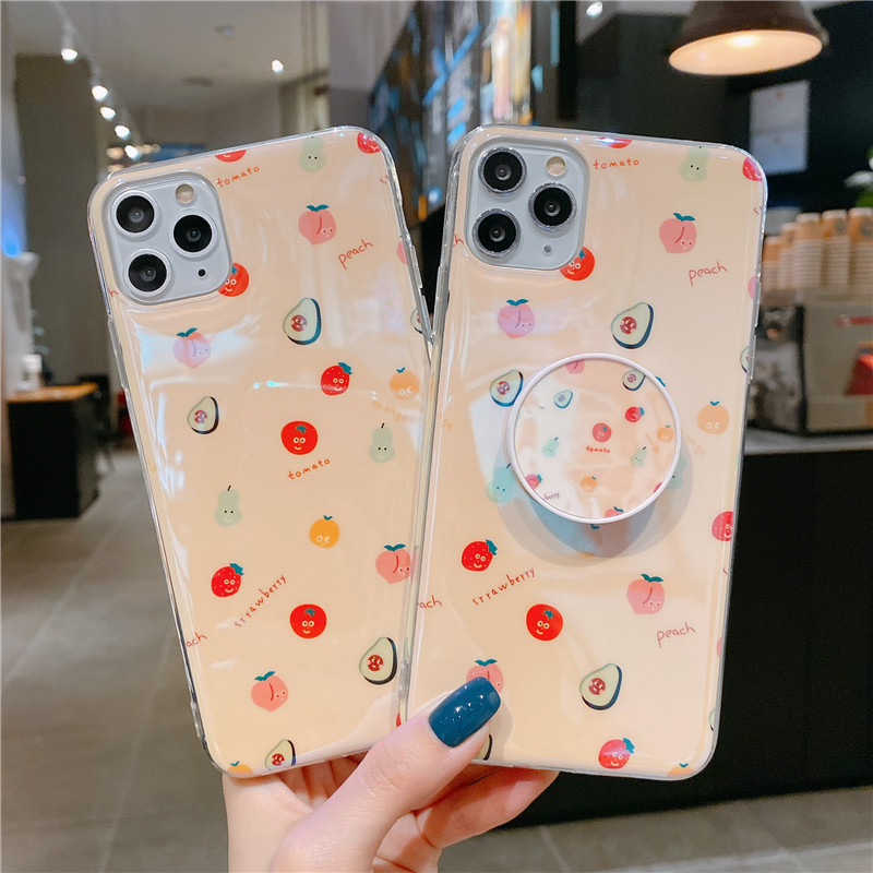 Blu-ray IMD Cartoon iPhone 11 Mobile Phone Case For iPhoneXR Bracket Soft Silicone XSmax Cover 0