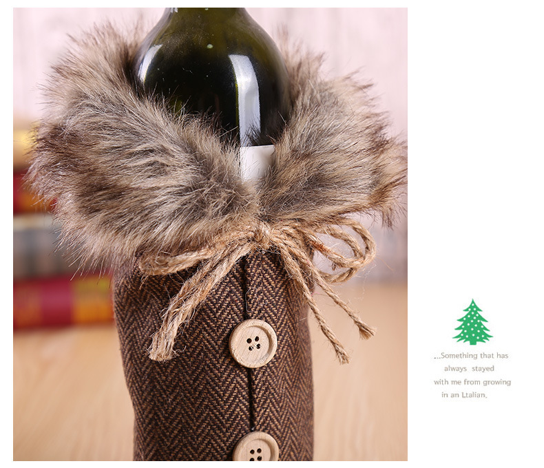 Christmas Wine Set Hotel Dining Decoration Restaurant Decoration Props Bow Wine Bottle Set 5