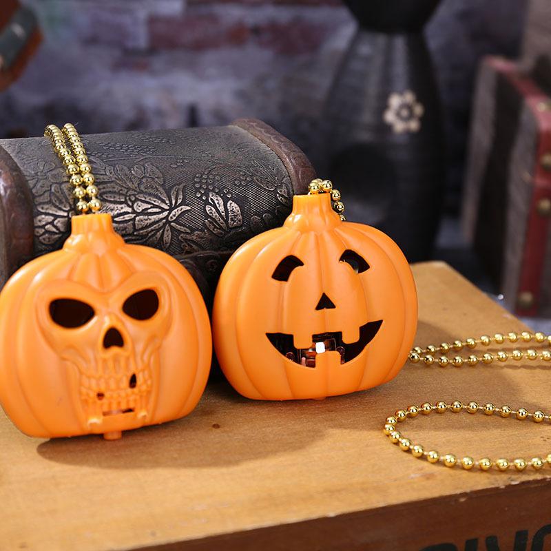 Halloween Glowing Pumpkin Lantern Ghost Festival Pumpkin Skull Necklace Decoration Creative Halloween Decoration Pumpkin Pendant 1